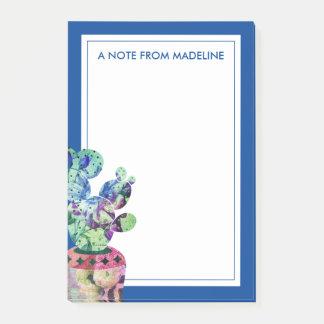 Seu cacto bonito do Succulent do texto   Bloco De Notas
