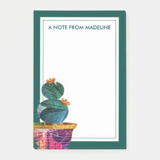 Seu cacto bonito do Succulent do texto   Bloco Post-it