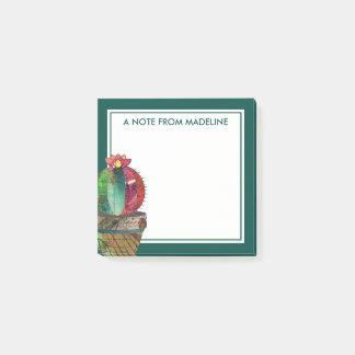 Seu cacto bonito do Succulent do texto   Bloquinho De Notas
