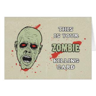 Seu cartão da matança do zombi para o aniversário