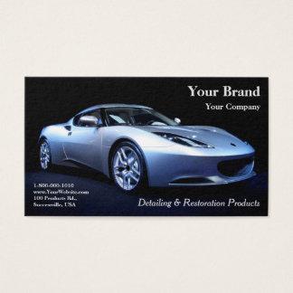 Seu cartão de visita do carro da prata da marca