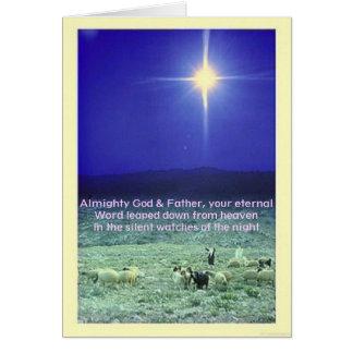 Seu cartão eterno do Xmas da palavra (Bethlehem)