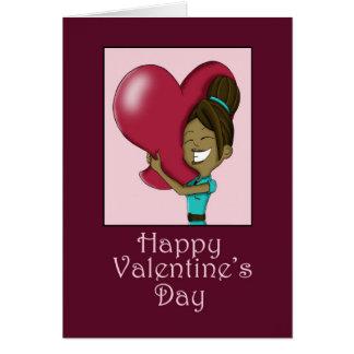 Seu cartão grande do dia dos namorados do coração
