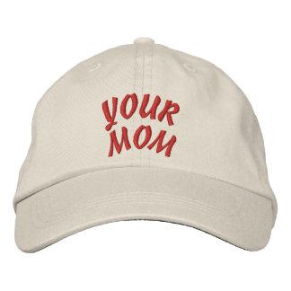 SEU chapéu da MAMÃ Boné Bordado