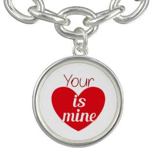 Seu coração é bracelete da mina