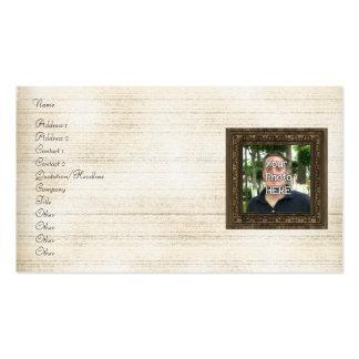 Seu da foto quadro de madeira aqui impressão cartão de visita