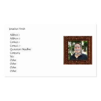 Seu da foto quadro de madeira aqui impressão modelo cartao de visita