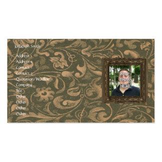 Seu da foto quadro de madeira aqui impressão modelo cartoes de visitas