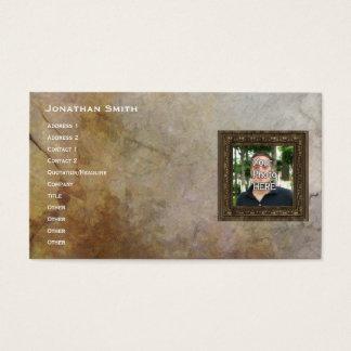 Seu da foto quadro de madeira aqui (impressão) cartão de visitas