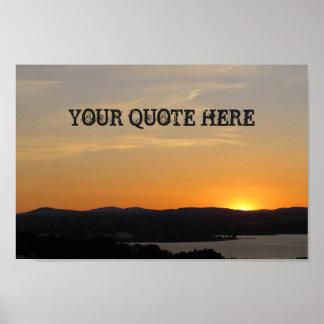 Seu das citações poster do por do sol aqui