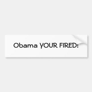 SEU de Obama ATEADO FOGO! Adesivo Para Carro