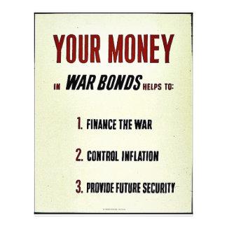 Seu dinheiro modelo de panfletos