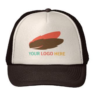 Seu do logotipo marketing relativo à promoção do n boné