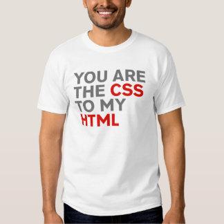 Seu é o CSS a meu HTML no preto T-shirts