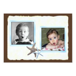 Seu e seu anúncio do casamento da foto do bebê convite 12.7 x 17.78cm