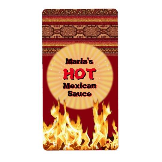 Seu molho mexicano quente (customizável) etiqueta de frete