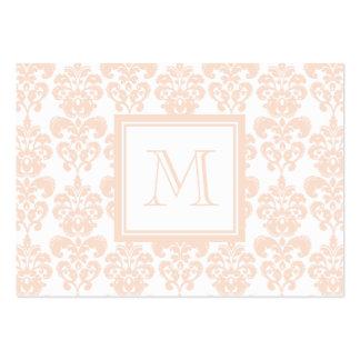 Seu monograma, cor damasco cor-de-rosa 2 da carne cartão de visita grande