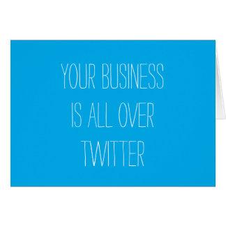 Seu negócio é por todo o lado no cartão do Twitter