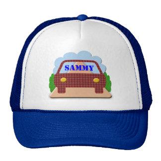 Seu nome no janela-chapéu do carro boné