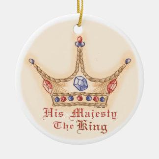 Seu ornamento cerâmico redondo da coroa da