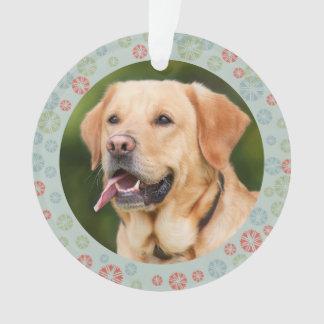 Seu ornamento do presente da foto do cão de