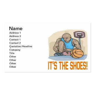 Seu os calçados cartão de visita