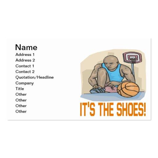 Seu os calçados cartões de visitas