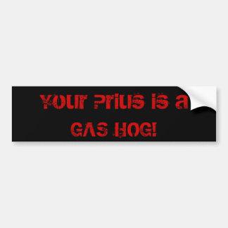 Seu Prius é um PORCO do GÁS! Adesivo