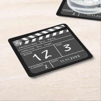 Seu próprio filme feito sob encomenda porta-copo de papel quadrado