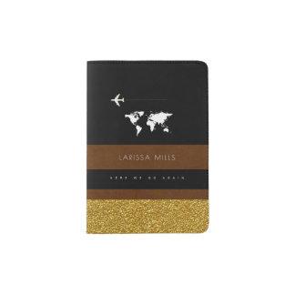 seu suporte elegante moderno do passaporte com capa para passaporte