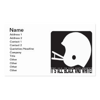 Seu toda preto e branco cartão de visita