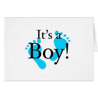 Seu um menino - bebê, recém-nascido, celebração cartão