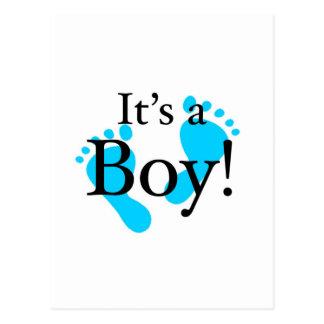 Seu um menino - bebê, recém-nascido, celebração cartões postais