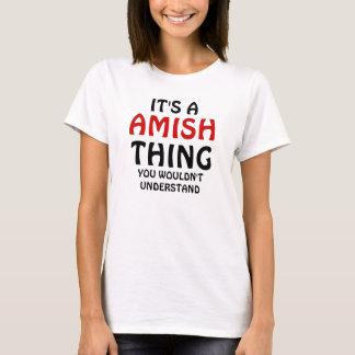 Seu uma coisa de amish tshirts