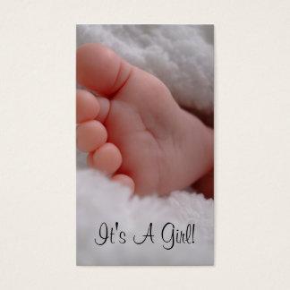 Seu uma menina cartão de visitas