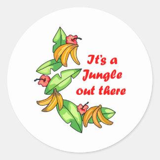 Seu uma selva… adesivo redondo