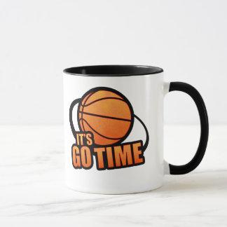 Seu vai a caneca do basquetebol do tempo