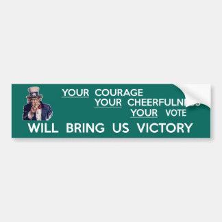 Seu voto trar-nos-á a vitória adesivo