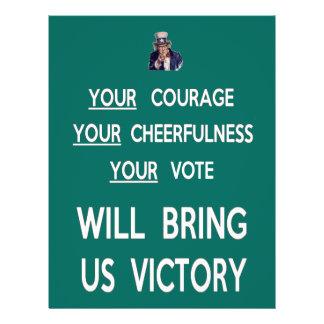 Seu voto trar-nos-á a vitória flyer 21.59 x 27.94cm