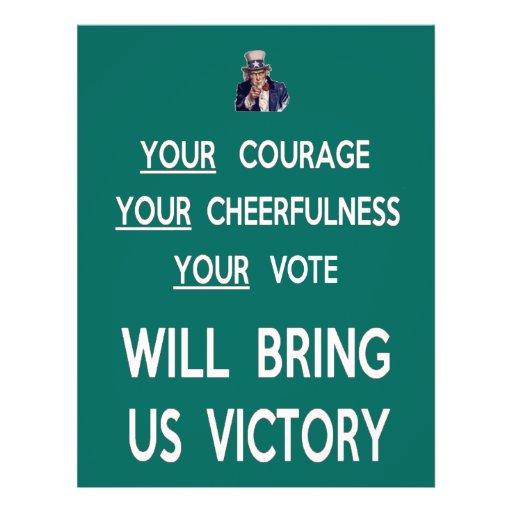 Seu voto trar-nos-á a vitória panfletos