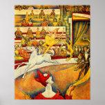 Seurat-Circo de Georges Impressão
