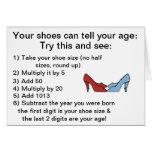 Seus calçados podem dizer seu cartão de aniversári