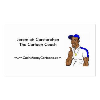 Seus cartões de visitas online dos desenhos animad