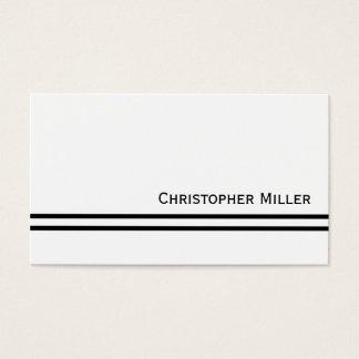 Seus fundo da cor & listras pretas cartão de visitas