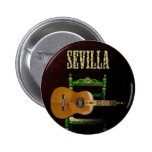 Sevilla Guitarra española con Giralda de Sevilla Bóton Redondo 5.08cm