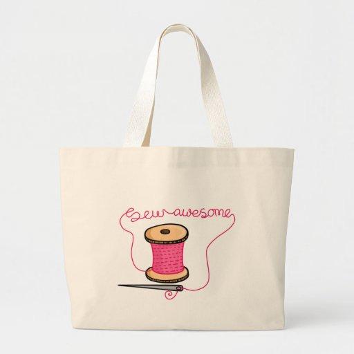 Sew a agulha e o algodão impressionantes bolsas para compras