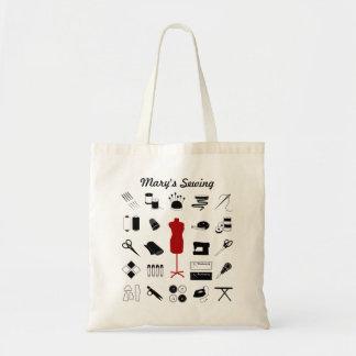 Sew a sacola direita com modelo do alfaiate bolsa de lona