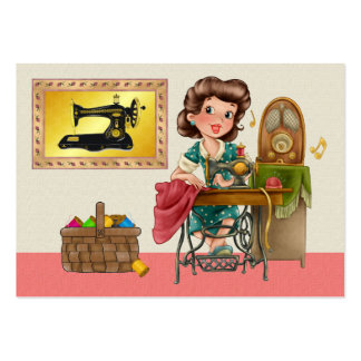 Sewing/costureira/forma - SRF Cartão De Visita Grande