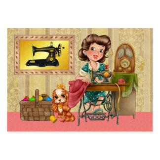 Sewing/costureira/forma - SRF Cartões De Visitas