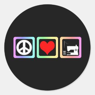 Sewing do amor da paz adesivo